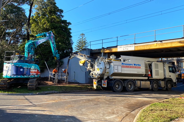 How is the waste collected by suction trucks disposed